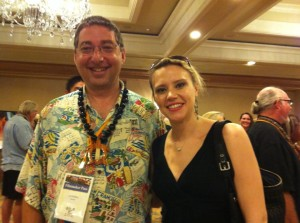 Lee with SNL actress Kate McKinnon at the Big Island Film Festival 2013