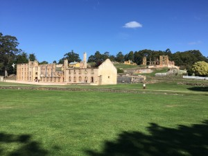 The ruins at Port Arthur in Tasmania