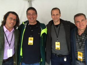 Barry Eisler, me, Gregg Hurwitz and James Rollins