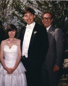 Valerie, me and Michael on my wedding day ... 26 years ago.