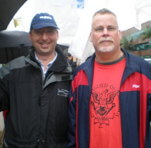 Lee & Michael Connelly on the picket line
