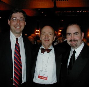 Lee Goldberg, William Link and Terence Winter at 2003 Edgar Awards