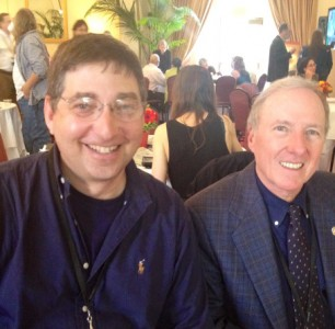 Lee Goldberg with Joseph Wambaugh Los Angeles Times Festival of Books 2012